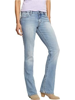 Womens The Sweetheart Boot-Cut Jeans - Soft, washed jeans are a stylish staple for do-nothing days. This classic pair features five-pocket styling and a zip fly with button closure.