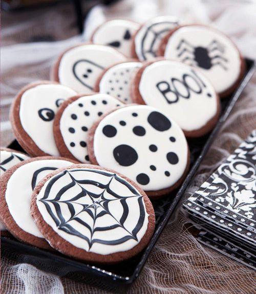 black and white fun |  DIY Halloween Decor Ideas | Good Housekeeping