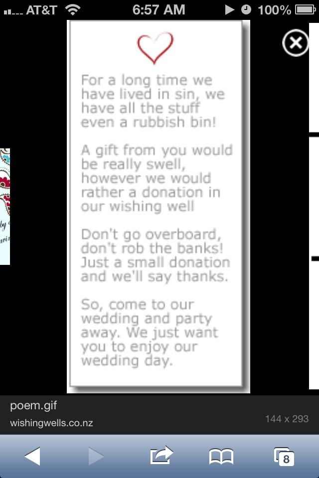 wedding reception wedding stuff dream wedding wishing well poems ...