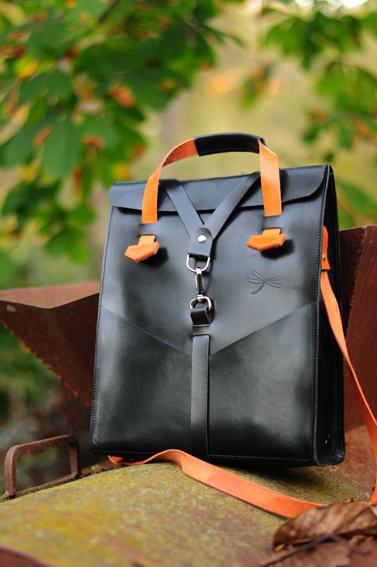 Leather bag men- Desing Ludena. Leather handbag and shoulder bag for men, Computer bag