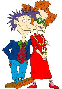 "Stu and Didi from ""Rugrats"""