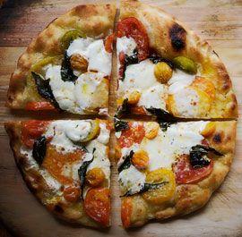 Pancetta, Cherry Tomato, Burrata, and Scallion Pizza...DELISH!: Big Pizza, Yummy Food, Scallion Pizza, Pizza Pizza, Cherry Tomatoes, Fine Cooking, Food Lust, Cherries Tomatoes, Cooking Recipes