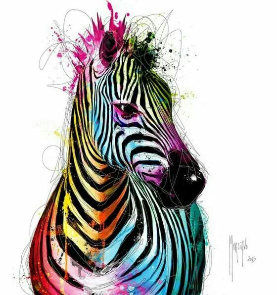 Zebra by French Artist Patrice Murciano