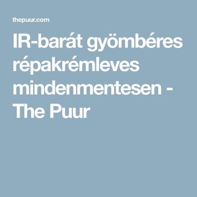 IR-barát gyömbéres répakrémleves mindenmentesen - The Puur