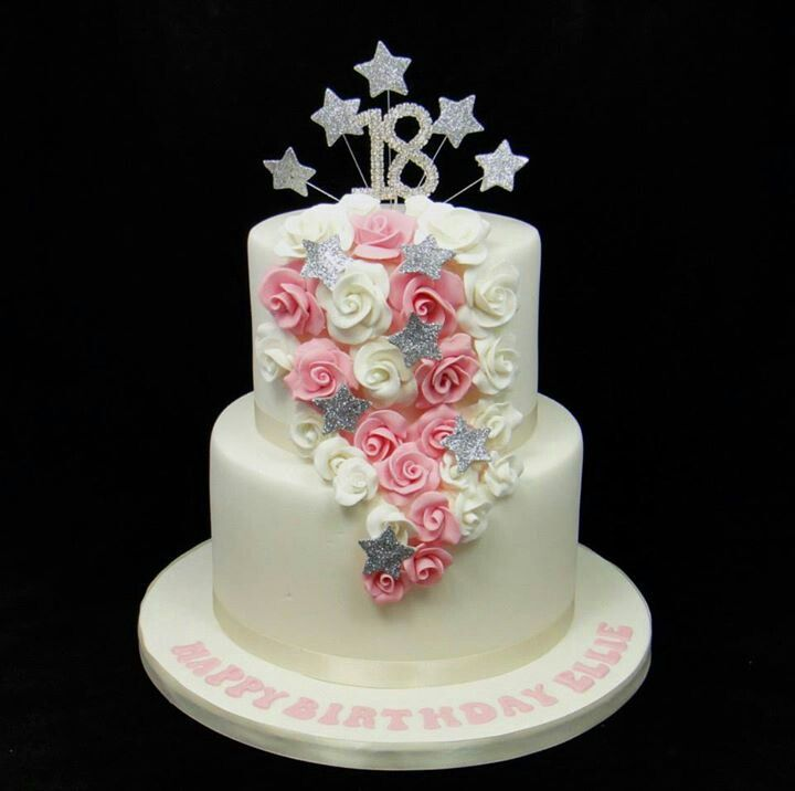 Birthday Cake Images Down : Roses trailing down birthday cake. I want to combine this ...