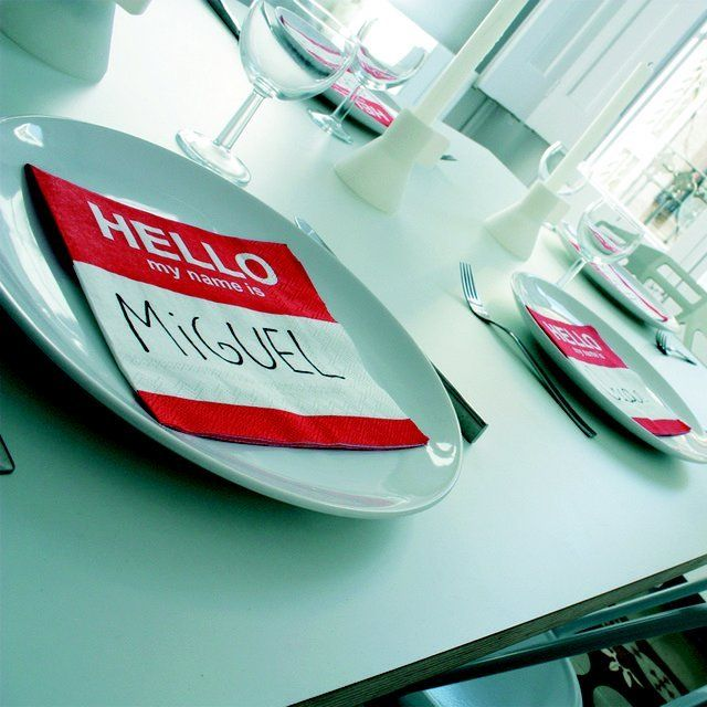 Dinner Party Name Ideas Part - 38: Fun Napkin Name Tags · Casual Dinner PartiesTable TagNapkin IdeasCool ...