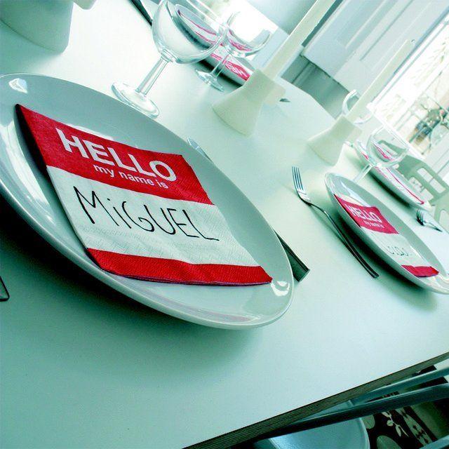 Dinner Party Name Ideas Part - 31: Fun Napkin Name Tags · Napkin IdeasName TagsCasual Dinner PartiesTable ...