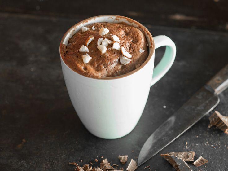 Torta al cioccolato in tazza