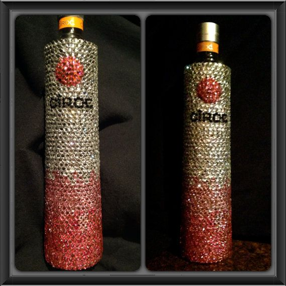 Bling Rhinestone Bottle of Ciroc by Isparkleit on Etsy