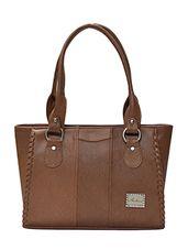 brown leatherette regular handbag - Online Shopping for handbags