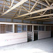 Easy stall build   All things Horse   Pinterest   Stalls ...