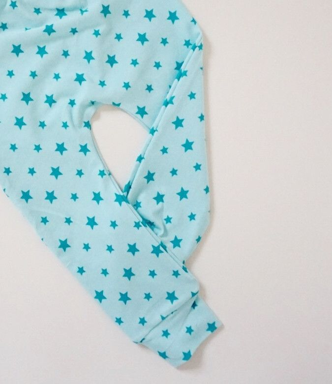Aqua Big 'n' Small Star Leggings – Made to Order