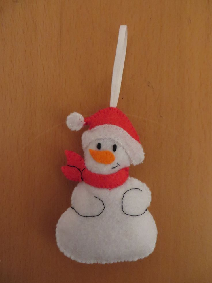 Bonhomme de neige decoration noel deco noel sapin de for Decoration noel feutrine