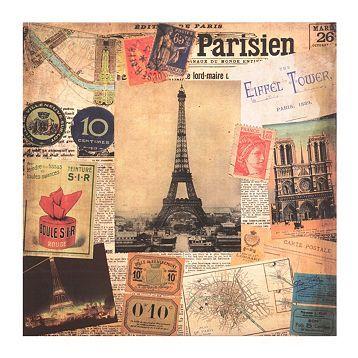 Paris Scrapbook Canvas Art Print at Kirkland's
