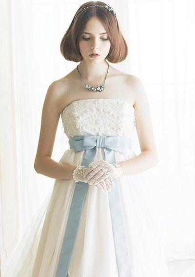 dress  ジル スチュアート青いリボン  http://www.jillstuart-wedding.com