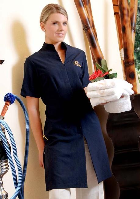 26 best uniforms images on pinterest hotel uniform for Spa employee uniform