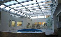 cobertura de piscina aquecida
