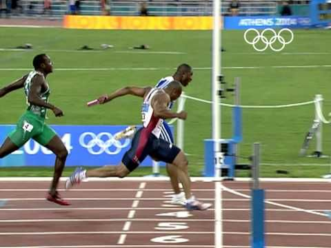 Team GB surprise and take gold - 4x100m Men's Relay - Athens 2004 Olympic Games