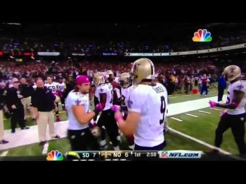 Drew Brees breaks Johnny Unitas record 48 consecutive games with a TD