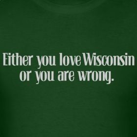This should have gold lettering. GO PACK GO.  or a red background. GO BADGERS