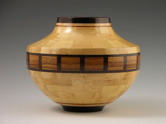"No. 233 - Woodturning, Segmenting, Wood Vessel, ""Baltimore"", Sculpture, Segmented Woodturning, Home Decor"