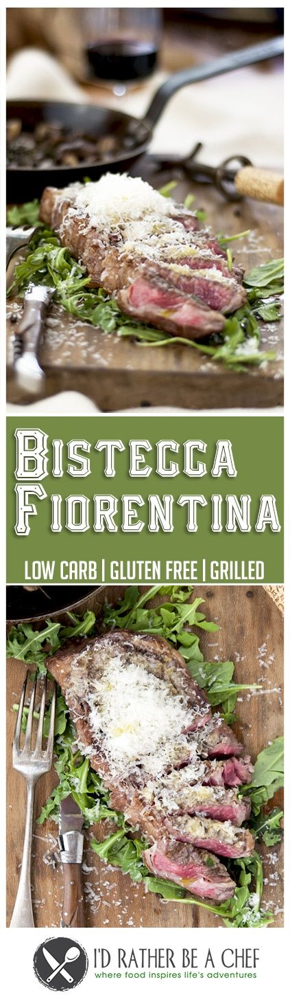 Brought to you directly from Tuscany, the Bistecca Fiorentina is one of the recipes that amazed me because of its simplicity. Let me show you how to cook it. No marinade needed; seasoning it with salt and pepper is enough. After you've grilled it, you need to set up a special bed for the meat to rest (I'll tell you all about it!). But the biggest secret is that you must build the perfect bites: have a piece of steak with parmesan, vinaigrette, and greens. It's like a rainbow on your palate!