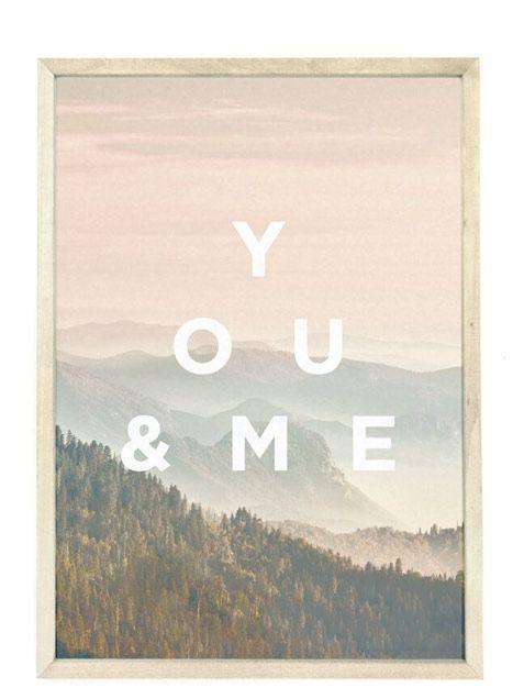 WhatWeDo Faunascape You/Me Print (A3)