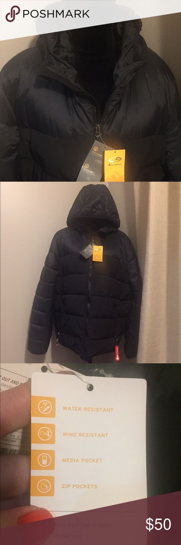 Brand New Men's Puffer Coat!! Love this for sleek looking Puffer Jacket!!  Brand New and Never Worn with tags.  This is a men's coat but I feel like it is unisex and can be worn by women too. Champion Jackets & Coats Puffers