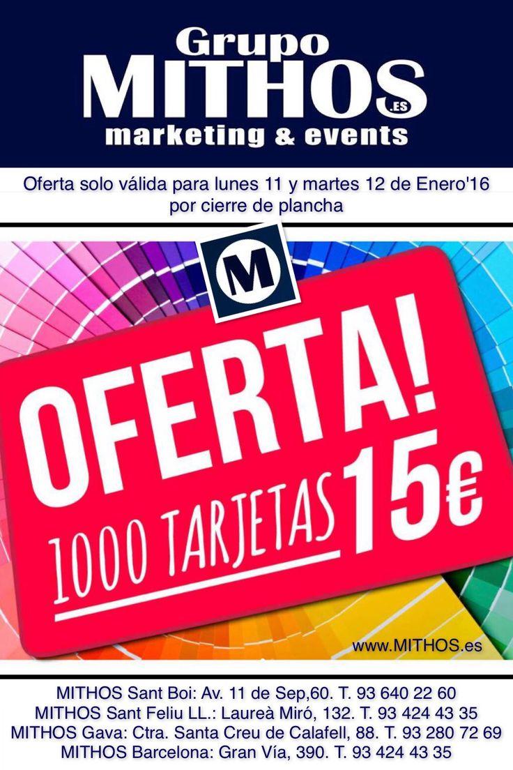 Ofertón para tarjeta de visita, calendario de bolsillo, vip, tarjeta fidelidad, carnet, etc... Solo hoy y mañana!  Si tú nos ves... ellos te verán. www.MITHOS.es  #MithosGrupo #Mithos #santboi #gava #santfeliu #barcelona #bcn #viladecans #ciutatcooperativa #viuresb #madrid #sevilla #andorra #publicidad #marketing #eventos #events #santboidiari #imprenta #impresión #tarjeta #tarjetadevisita
