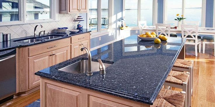 Blue granite, Granite and Kitchen countertops on Pinterest