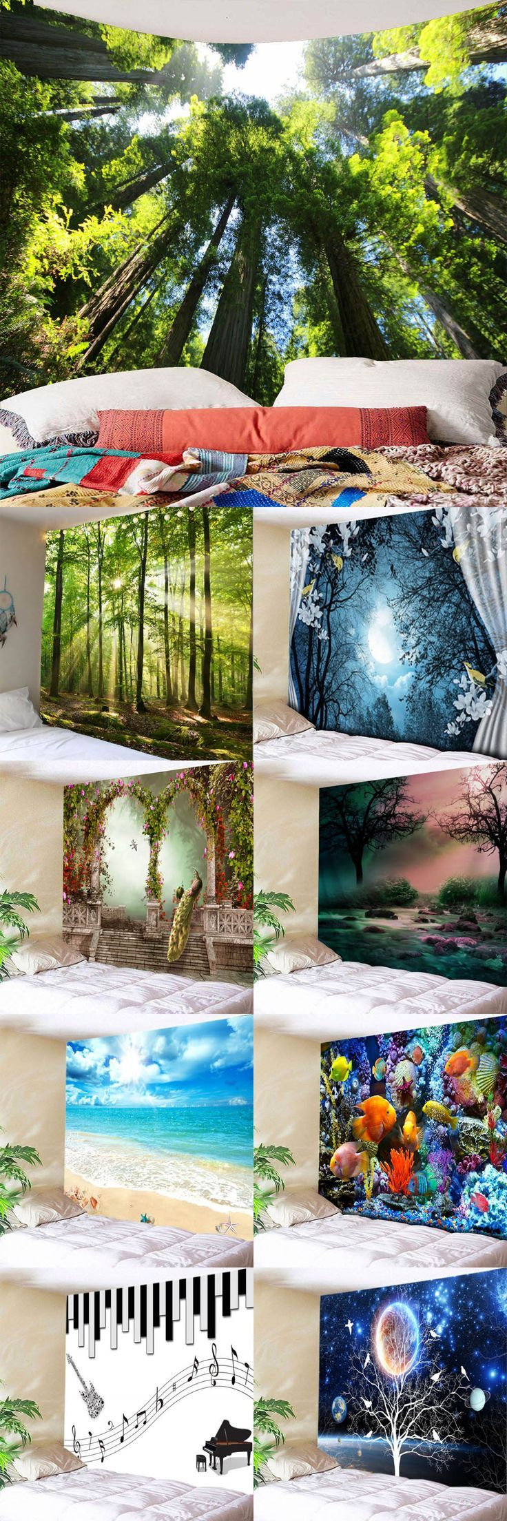 Up to 80% off, Rosewholesale Forest Sunlight Decorative Wall Hanging Tapestry – …
