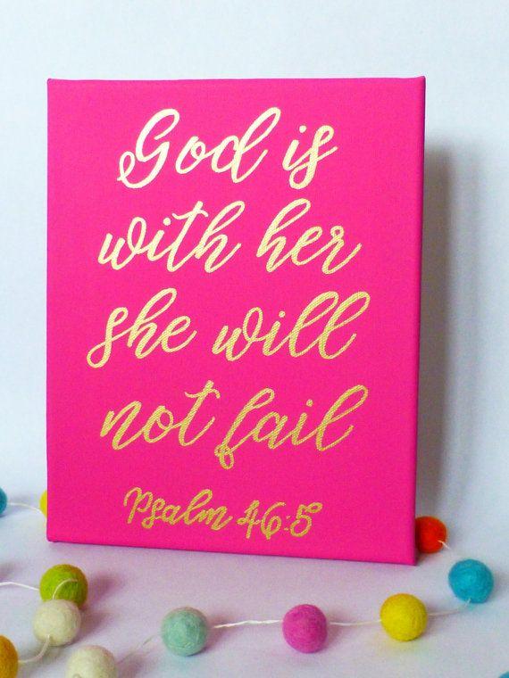 Bijbel vers Canvas schilderij Canvas teken door PicklesPaintingCo