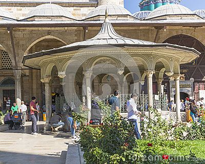 Mevlana museum in the city of Konya in Turkey.Place of ritual washing up Muslims.  http://www.pujas.com/islam-worship.html