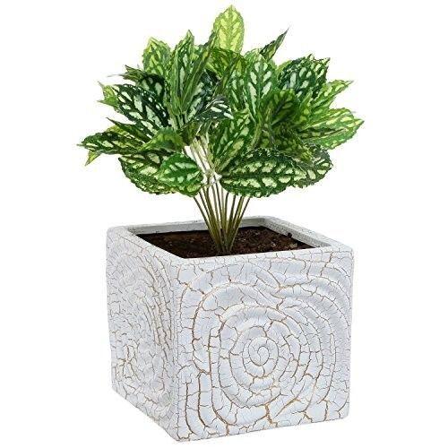 Ceramic-Container-Pot-6-Inch-Plant-Flower-Planter-Spiral-Design-Decor-Home-New