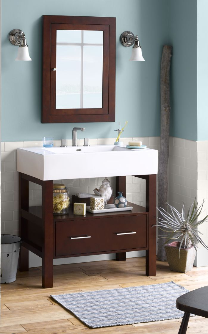 small sink vanity for small bathrooms%0A Contemporary Bathroom
