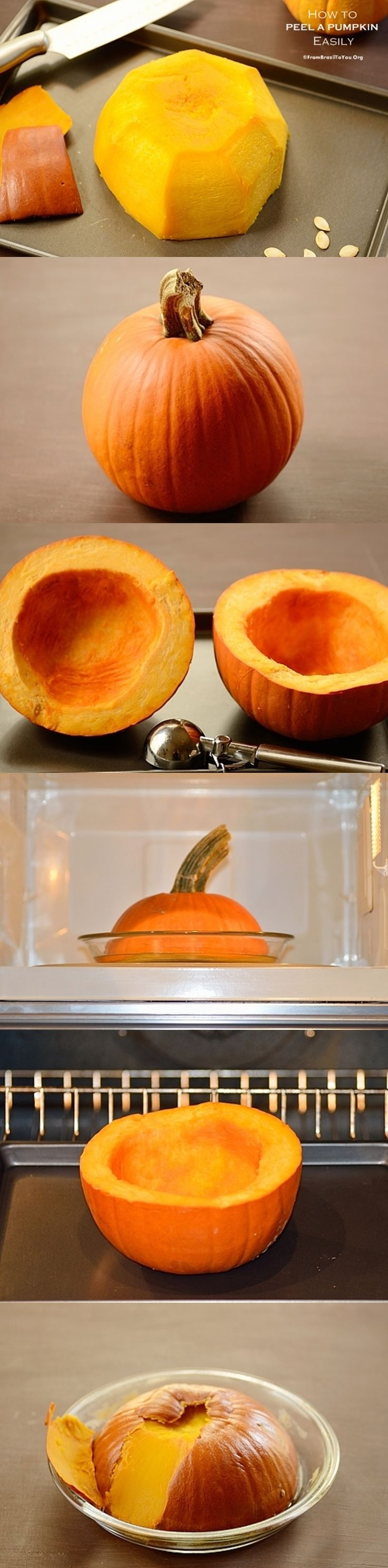 How to Peel a pumpkin easily for cooking... Making your life much easier.  #pumpkin #how #easy
