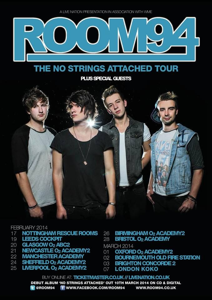 Room 94 announce UK tour for 2014