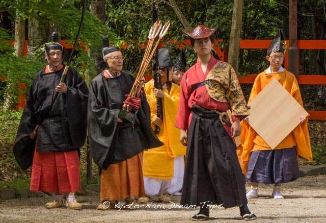 Fierce looking archer at the Yabusame shinji (流鏑馬神事) Horseback Archery at the Shimogamo Shrine in Kyoto!