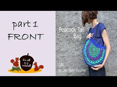 Peacock Tail Bag CAL Part 1 - Front side - YouTube