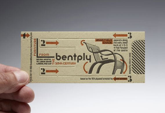 Business card that becomes a chair