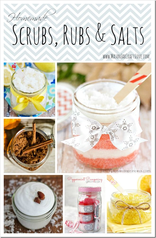 Scrubs, Rubs & Salts | Mason Jar Crafts Love