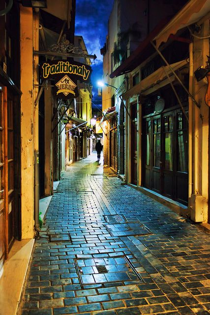Rethymno: Old town alley, Greece
