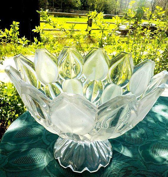 Altes Glas aus Tschechien sammeln Glashuette Hermanova Hut Retro mid century Serie *Tulip*Dekoration fuer Haus und Hof
