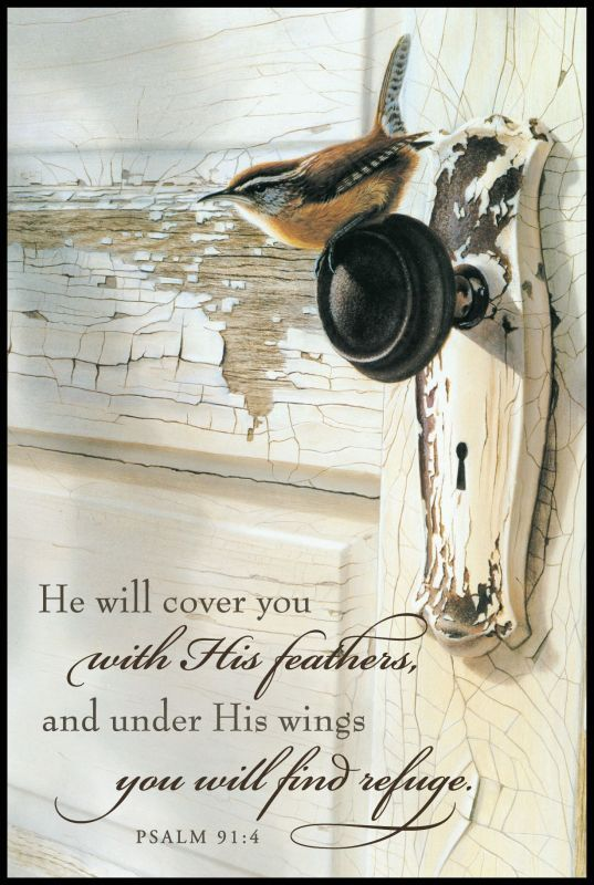 Psalm 91:4- Love it! Hanging in the living room now :)