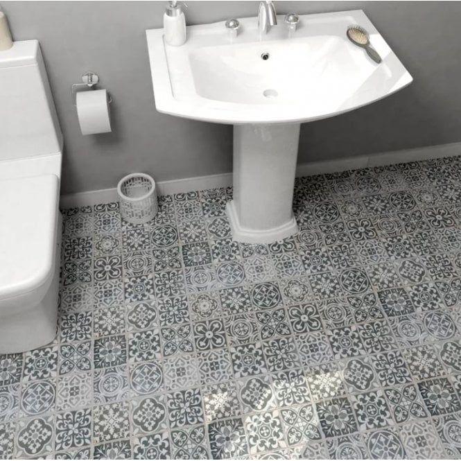 Marrakesh Black Decor 33cm X 33cm Wall Floor Tile Ceramic Floor Wall Tiles Flooring