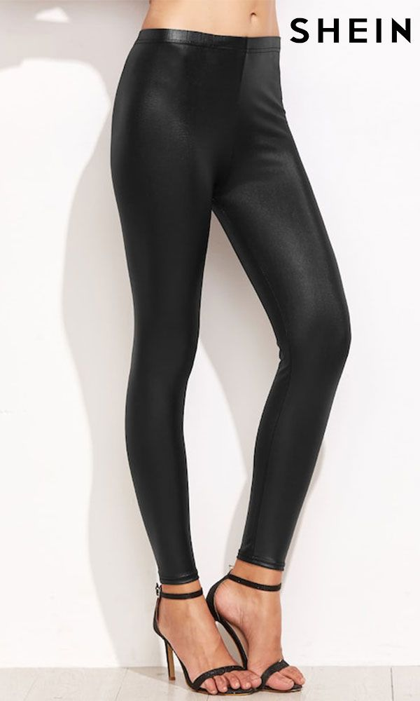 f85240d7fca9b9 High Waist Faux Leather Leggings | Spotlights in 2019 | Faux leather ...