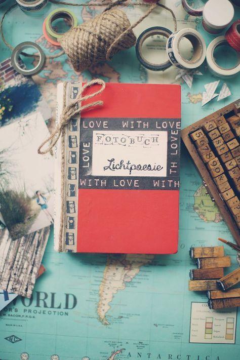 """selbstgemachtes """"Foto-Buch"""", eventuell auch als schöner Adventskalender mit einer Seite pro Tag umsetzbar"""