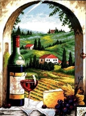 Dimensions #needlepoint Tuscan View ♥ #places #vineyard #mothersday #gift #decor #handcraft #handmade #DIY #project #needlework #stitching