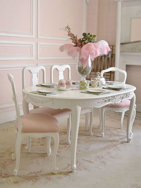 The bella cottage shabby chic furniture divine dining - Comedor shabby chic ...