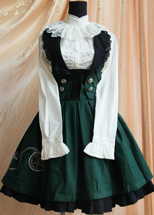 [Infanta. Infant Brahma tower] LOLITA * Winter elegy - time の 花 * the uniform wind strap dress two-color into - Taobao $50